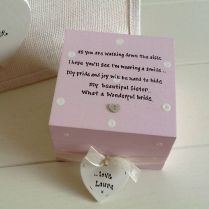 Personalised Chic Gift Set Sister On Wedding Day Present Gift