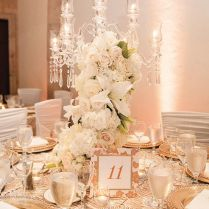 Picture Of Exquisite Gold And White Wedding Ideas