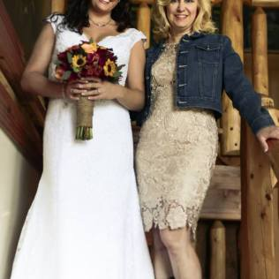 Pine Lakes Lodge Rustic Wedding Bride & Mother