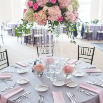 Pink And Grey Wedding Decorations 7384