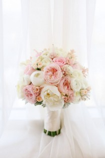 Pink White Wedding Bouquets
