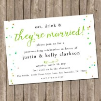 Post Wedding Party Invitations