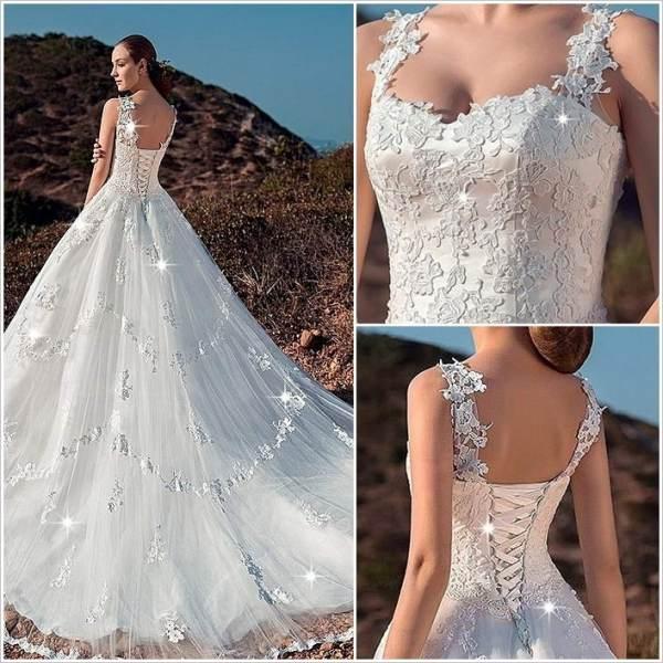 Corset Back Wedding Dress