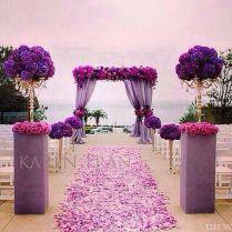 Purple And White Wedding Decor 10231