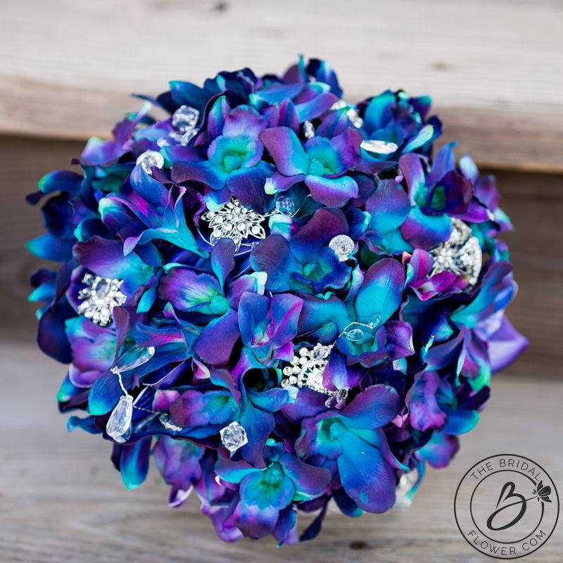 Orchid Flower Arrangements For Weddings: Blue Orchid Wedding Bouquets