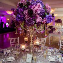Purple Flower Centerpieces For Weddings