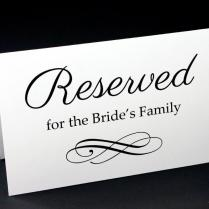 Reserved Signs For Wedding