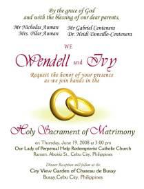 Sample Of Wedding Invitations Sample Wedding Invitation Haskovo