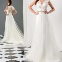 Scalloped Neck Wedding Dress – Fashion Dresses