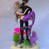 Scuba Diver Wedding Cake Topper