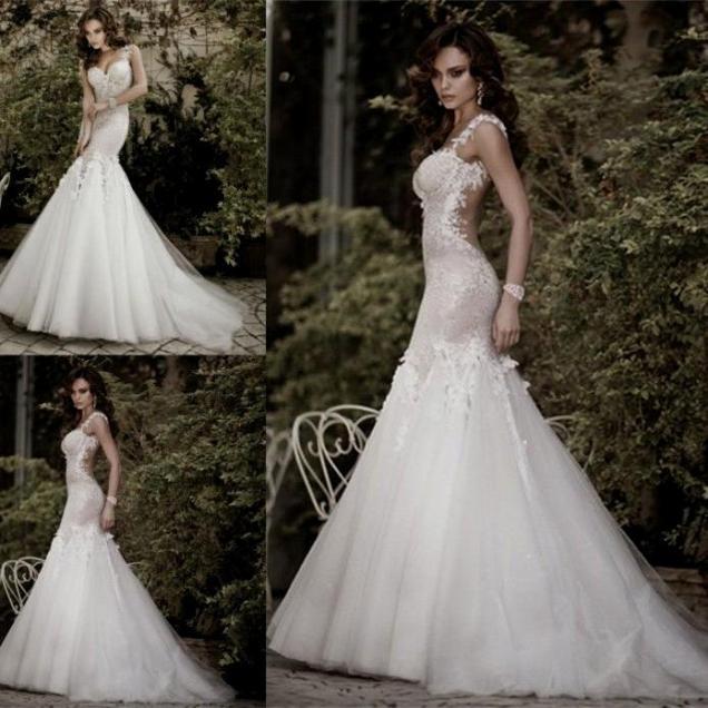 Sexy Backless Mermaid Wedding Dress Naf Dresses