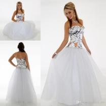 Simple Camo Wedding Dresses Cheap Sweetheart A Line Tulle Wedding