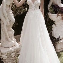 Spaghetti Strap Sweetheart Neck Informal A Line Low Back Wedding