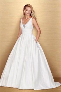 Taffeta Wedding Dress With Pockets 177