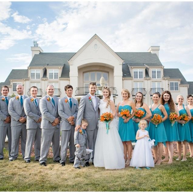 Teal And Gray Wedding