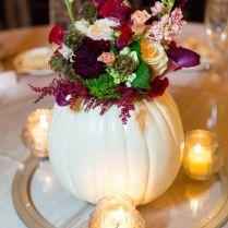 Terrific White Pumpkin Centerpieces For A Wedding
