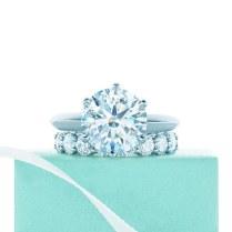 Tiffany Engagement Rings And Wedding Band Pairings