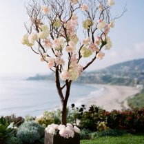 Tree Branches With Roses Ceremony Decor