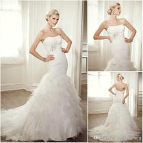 Unique Wedding Dress Ruffle Bottom 57 With Additional Tea Length