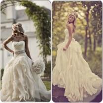 Vestido De Casamento Outdoor Country Western Wedding Dresses 2015