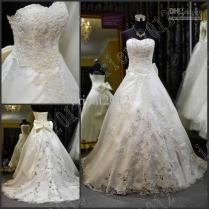 Vestido De Noiva On Sale Sweetheart Lace Beaded Pearl Wedding