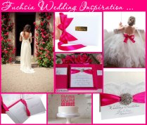 Vibrant Fuchsia Pink Wedding Colour Themes And Pink Wedding