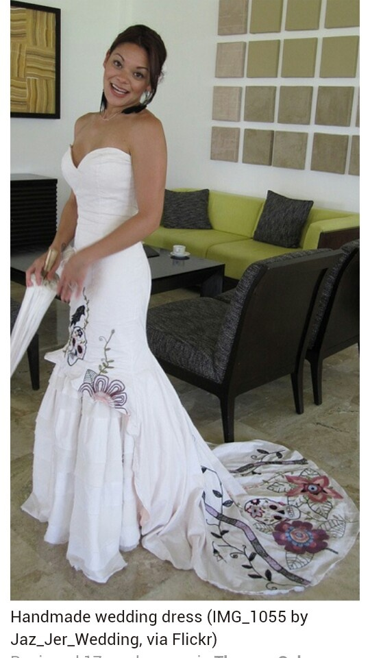 Sugar Skull Wedding Dress