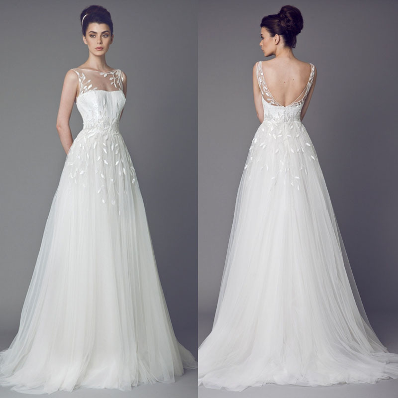 Wedding Dress With Daisies