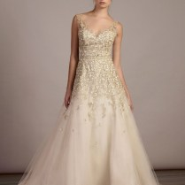 Wedding Dress With Gold Detail 5737