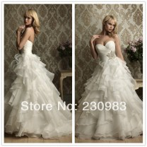 Wedding Dress With Ruffles At The Bottom