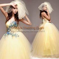 Wedding Dresses Yellow And Blue Dress Ideas, Yellow Cream Wedding