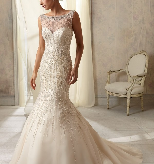 Wedding Gown From Af Couture By Mori Lee Style 1283 Pearl And