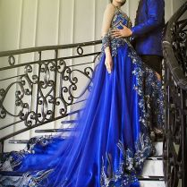 Wedding Gown Kebaya Electric Blue By Mimi Kebaya