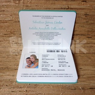 Wedding Invitation Template Passport Lovely Wedding Invitation