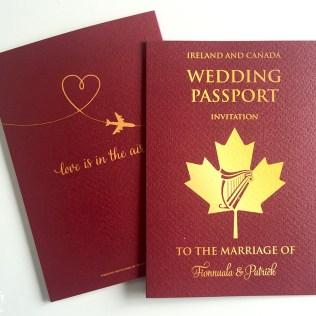 Wedding Passport Invitations Wedfest Passport Wedding Invitations