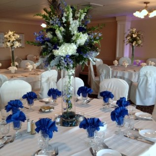Wedding Table Decorations Royal Blue 6156