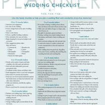 Wedding Timeline Checklist Best 25 Wedding Checklist Timeline