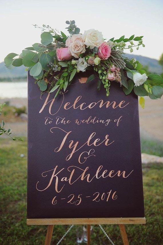Wedding Reception Welcome Board