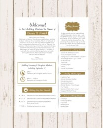 Wedding Welcome Letter