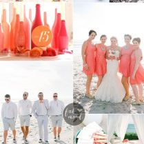 Weding Coral Dresses Beach Wedding And Turquoise Ideas Best