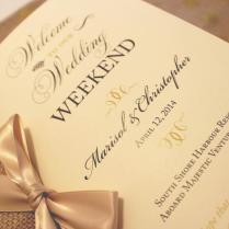Welcome Wedding Booklet, Gold Wedding Programs, Wedding Welcome