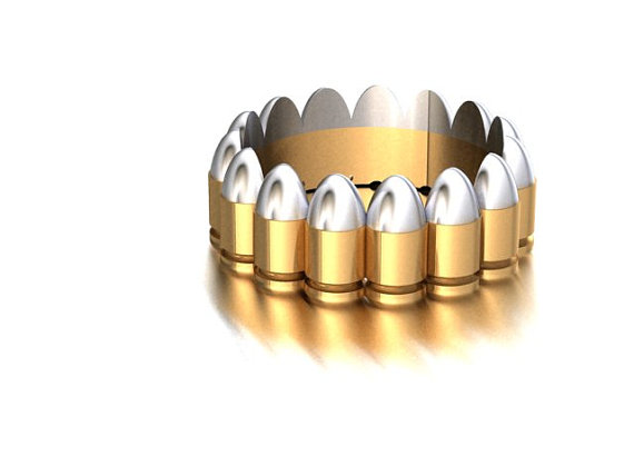 Well Bullet Wedding Rings 7
