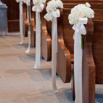 Well Church Pew Wedding Decorations 24