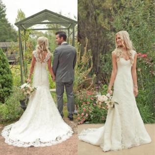 Western Style Wedding Dresses 2015 Elegant Country Western Style
