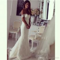 Wholesale Off The Shoulder Bridal Mermaid Wedding Dresses 2016