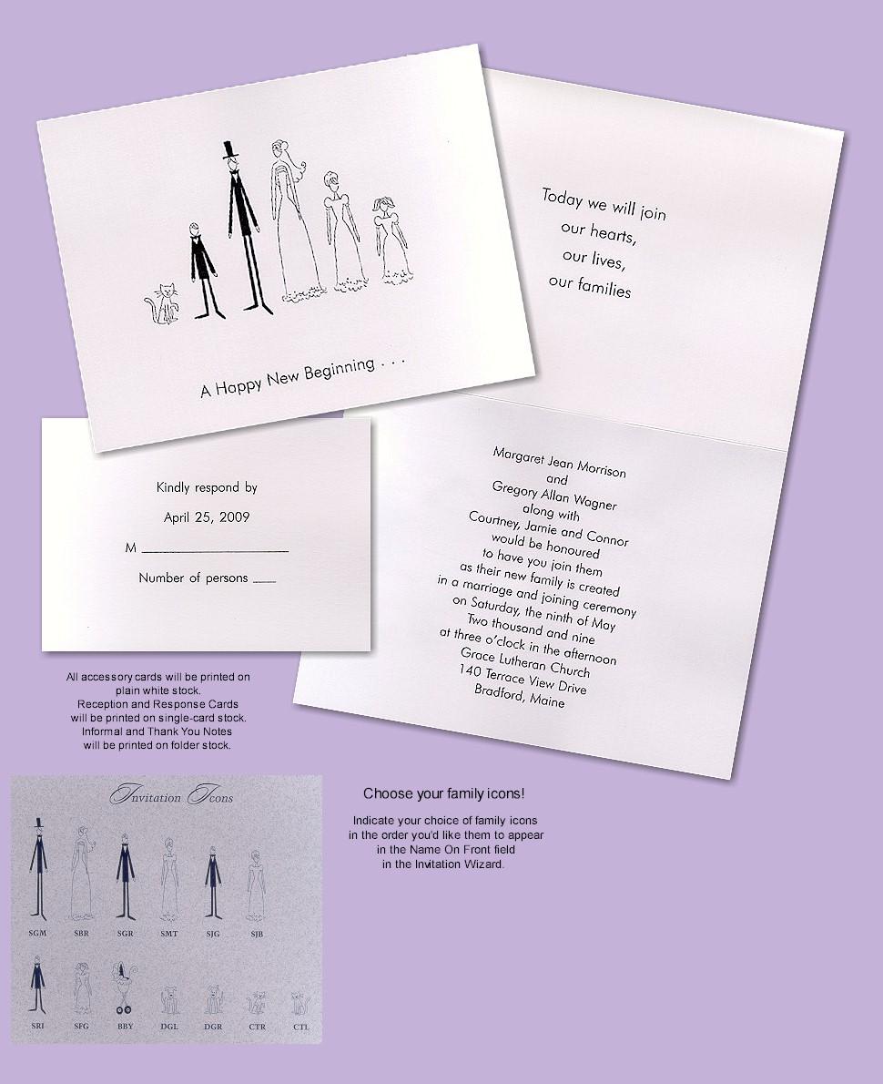Blended Family Wedding Invitations
