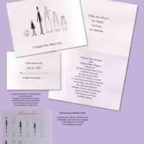 Wonderful Blended Family Wedding Invitations