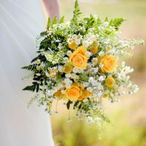 Yellow Rose Bouquet Wedding