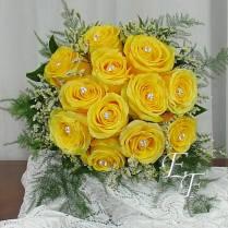 Yellow Rose Wedding Bouquet Ef