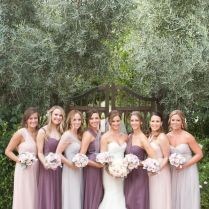 Dull Purple And Grey Bridesmaid Dresses Ideas